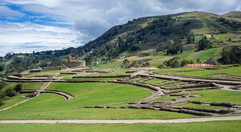 Vue globale des ruines antiques d'Inca d'Ingapirca images libres de droits