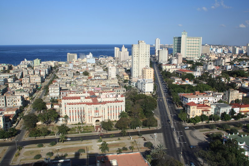 vue grande de la Havane III de construction photos stock