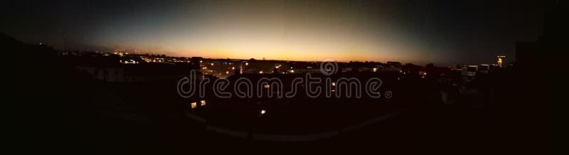 Vue 02 0h du matin sur la ville photo stock