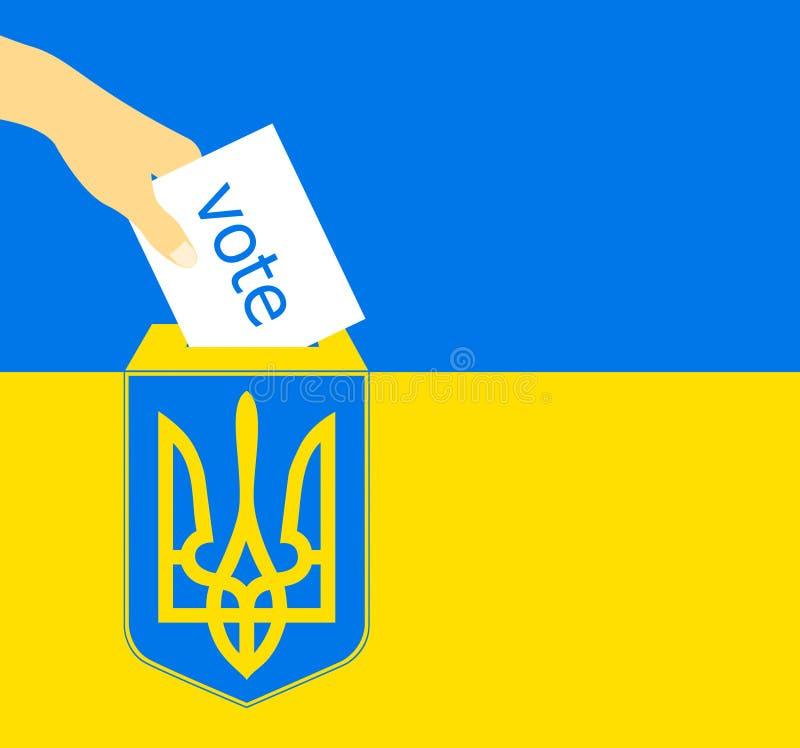Vue haute étroite d'élection de l'Ukraine illustration stock