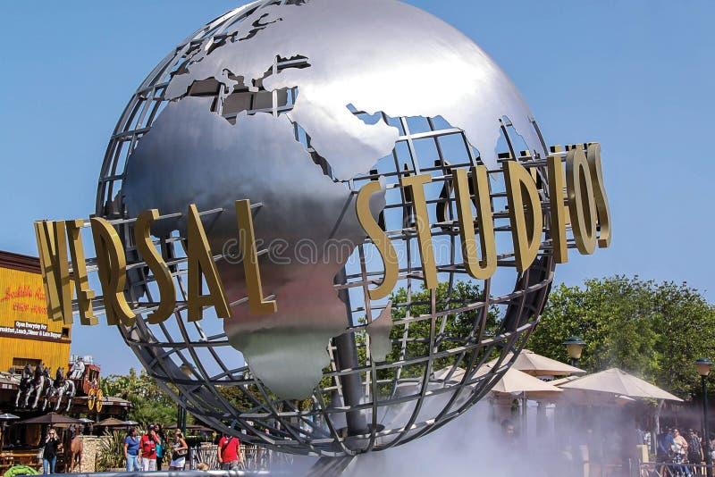 Vue haute étroite d'Universal Studios Hollywood à Los Angeles LES Etats-Unis photos stock