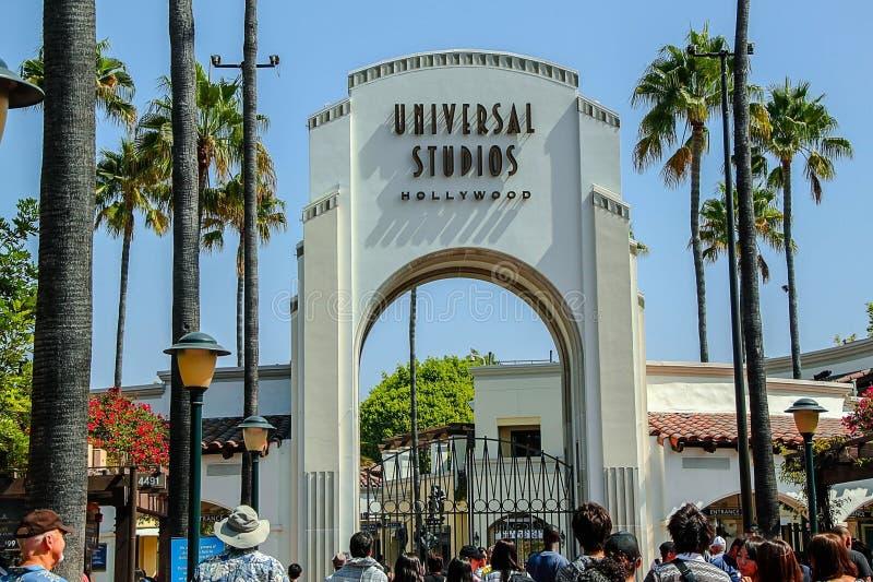 Vue haute étroite d'Universal Studios Hollywood à Los Angeles LES Etats-Unis images stock
