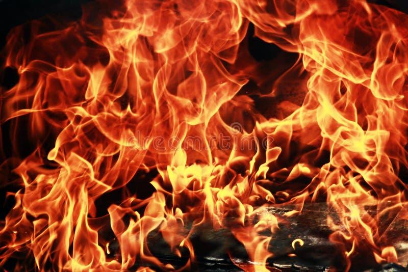 vue haute étroite de flammes du feu photo libre de droits