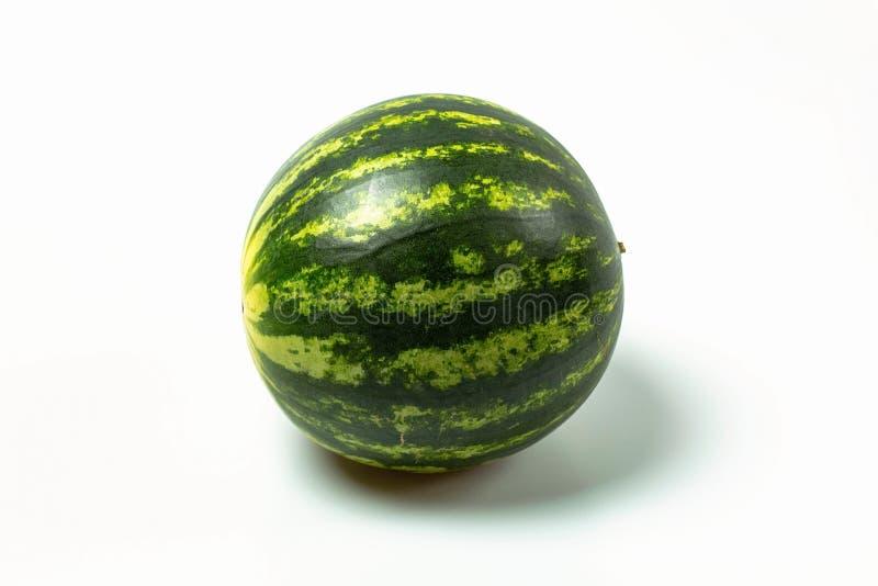 Vue haute étroite de pastèque d'isolement Concept sain de consommation/nourriture photo libre de droits