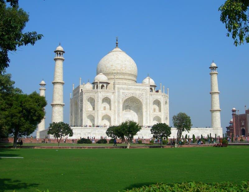 Vue iconique du mausolée de Taj Mahal image libre de droits