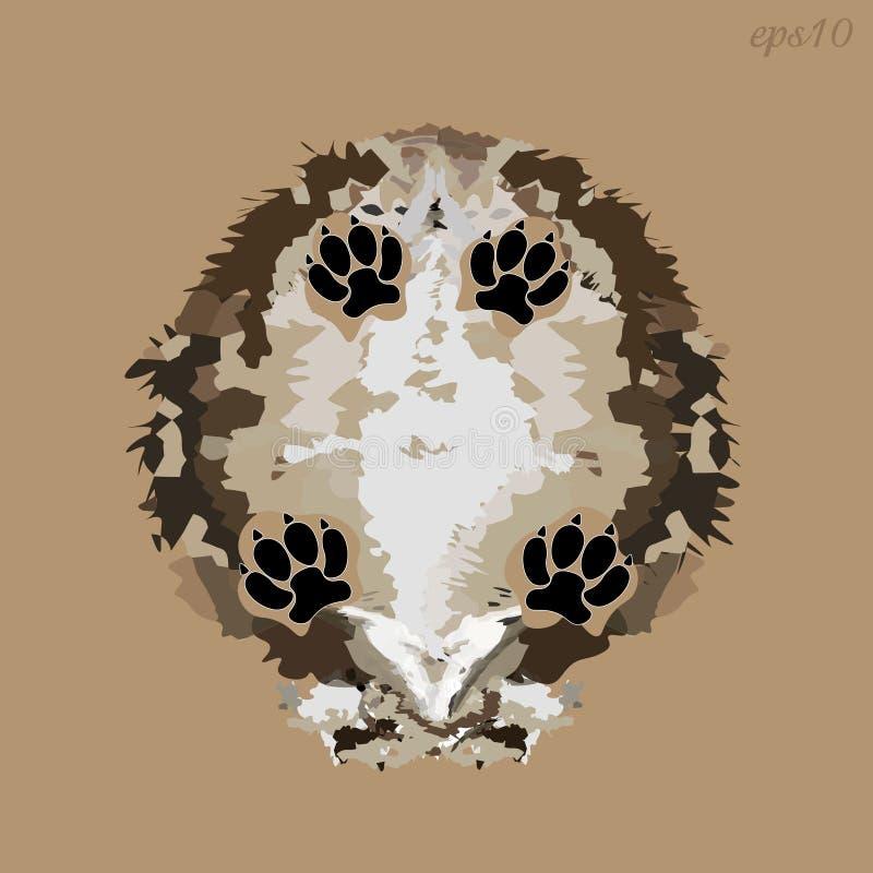 Vue inférieure de chien hirsute illustration libre de droits