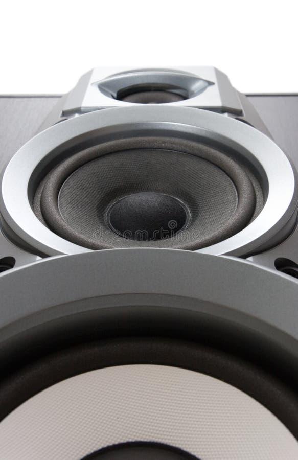 Vue inférieure de haut-parleur fort photo stock