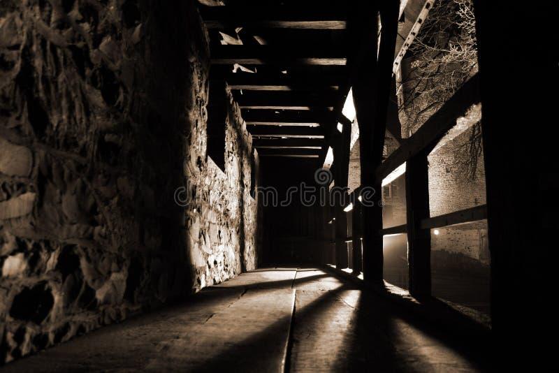 Vue intérieure d'un château photos stock