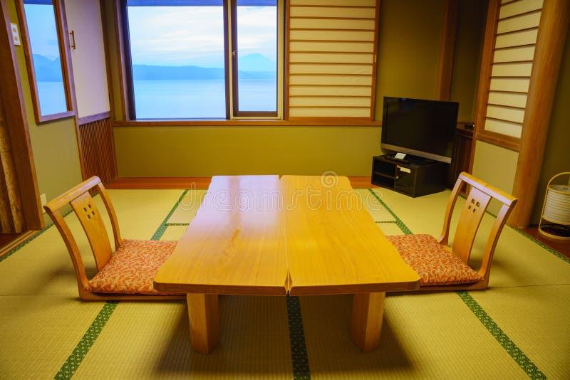 Vue intérieure d'un washitsu photos libres de droits