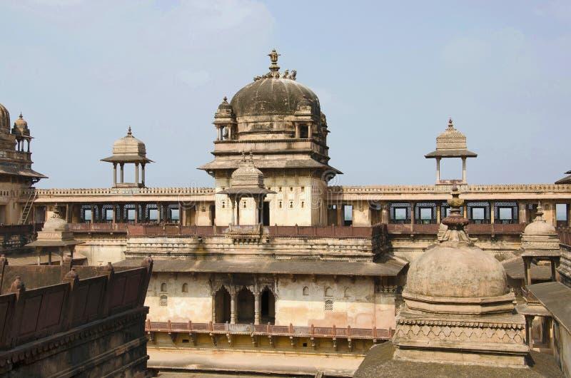 Vue intérieure de Jahangir Palace Complexe de fort de palais d'Orchha Orchha Madhya Pradesh images libres de droits