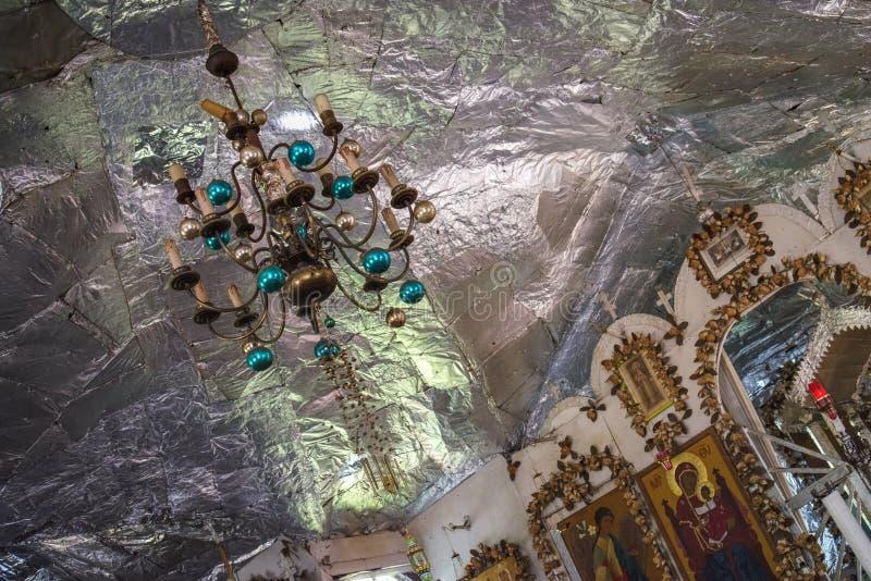 Vue intérieure de l'église orthodoxe russe photographie stock libre de droits