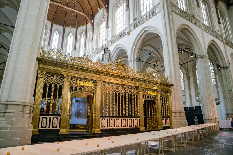 Vue intérieure de la nouvelle église image libre de droits