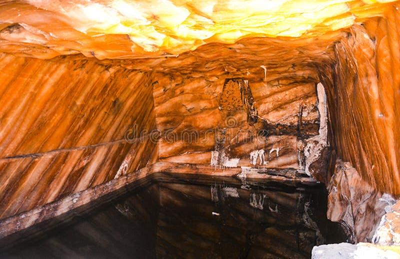 Vue intérieure de mine de sel de Khewra image libre de droits