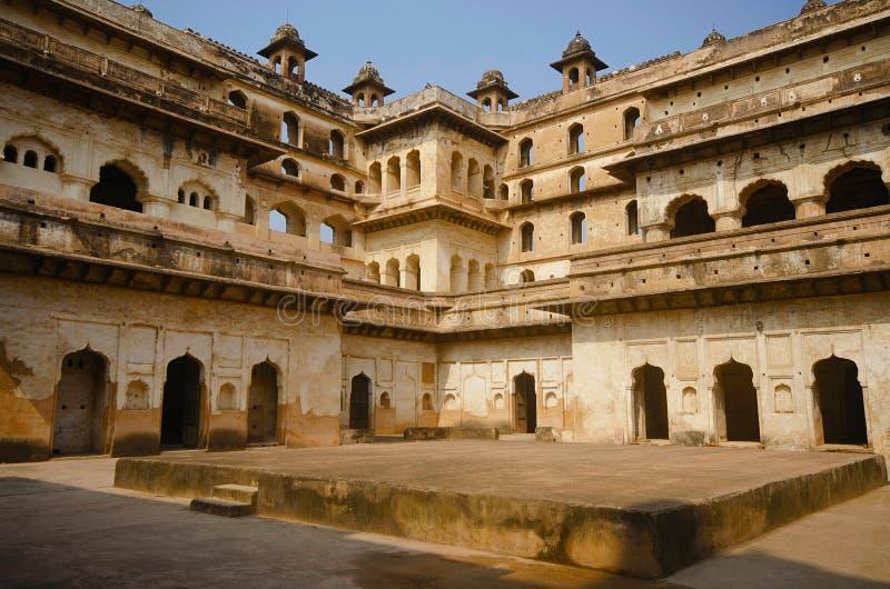 Vue intérieure de Raj Mahal Complexe de fort de palais d'Orchha Orchha Madhya Pradesh image stock