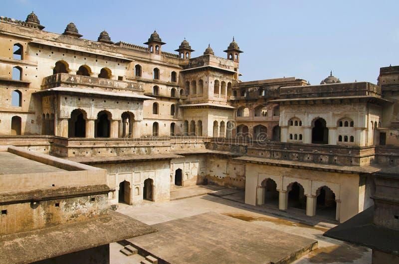 Vue intérieure de Raj Mahal Complexe de fort de palais d'Orchha Orchha Madhya Pradesh photo libre de droits