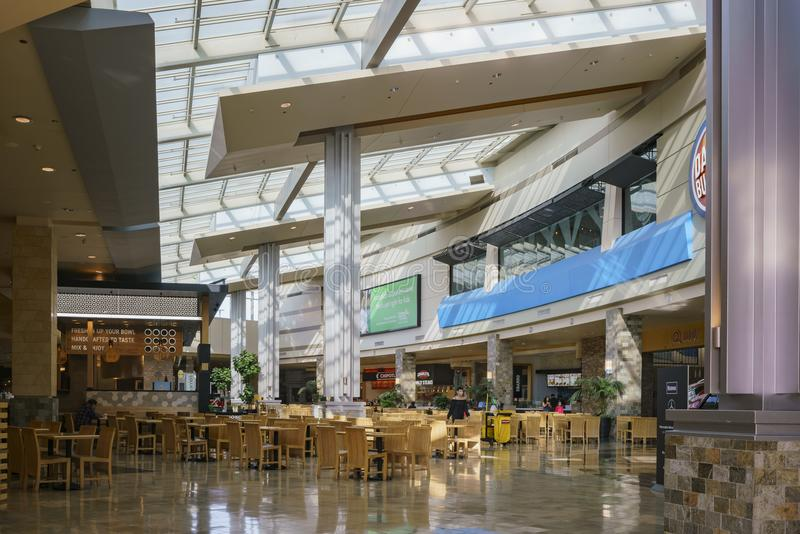 Vue intérieure de Santa Anita Mall photo stock