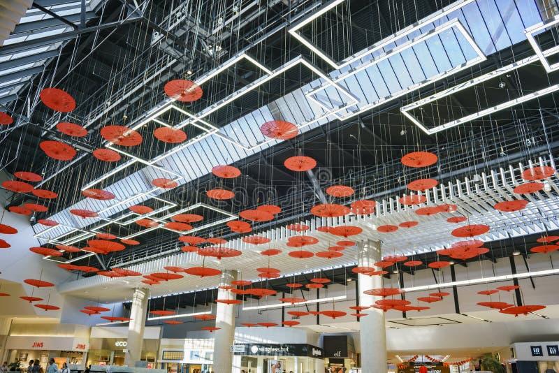Vue intérieure de Santa Anita Mall images libres de droits
