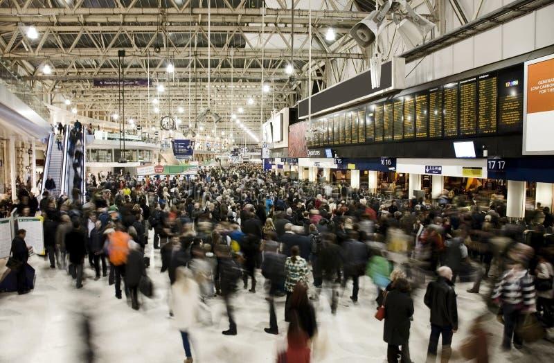 Vue intérieure de station de Waterloo images libres de droits