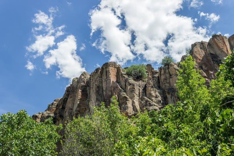 Vue intérieure de vallée d'Ihlara dans Aksaray, Turquie image stock