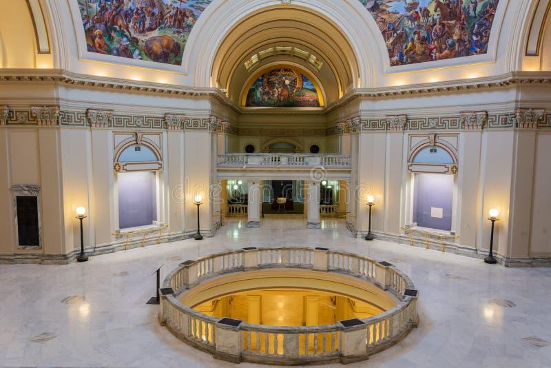 Vue intérieure du capitol d'état de l'Oklahoma à Oklahoma City, CORRECT image libre de droits