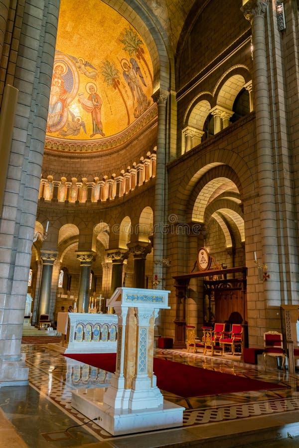 Vue intérieure du saint historique Nicholas Cathedral photographie stock