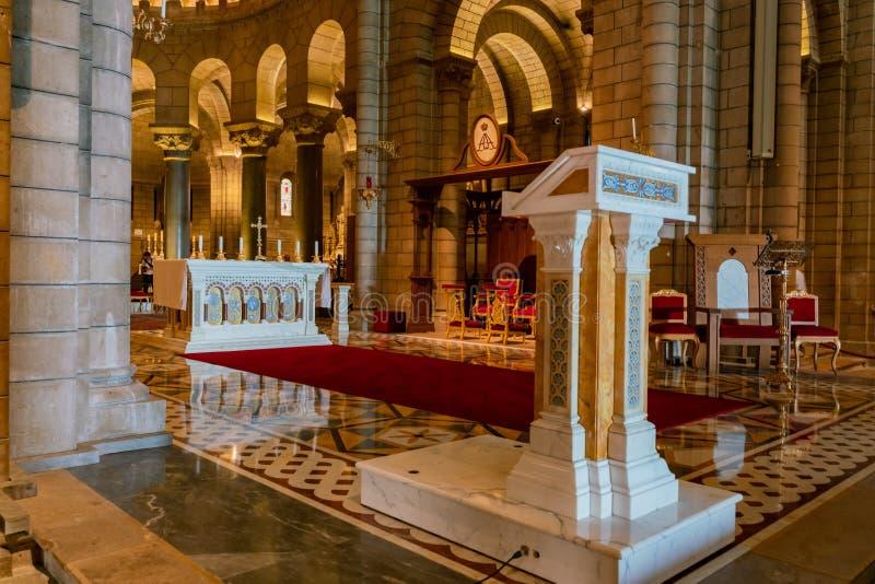 Vue intérieure du saint historique Nicholas Cathedral image stock