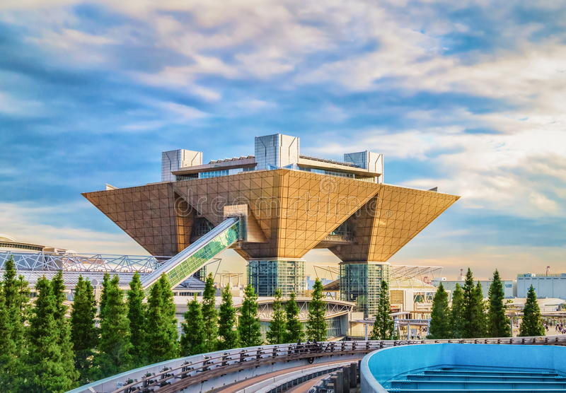 Vue internationale de Tokyo de centre d'exposition de Tokyo aka grande photo stock