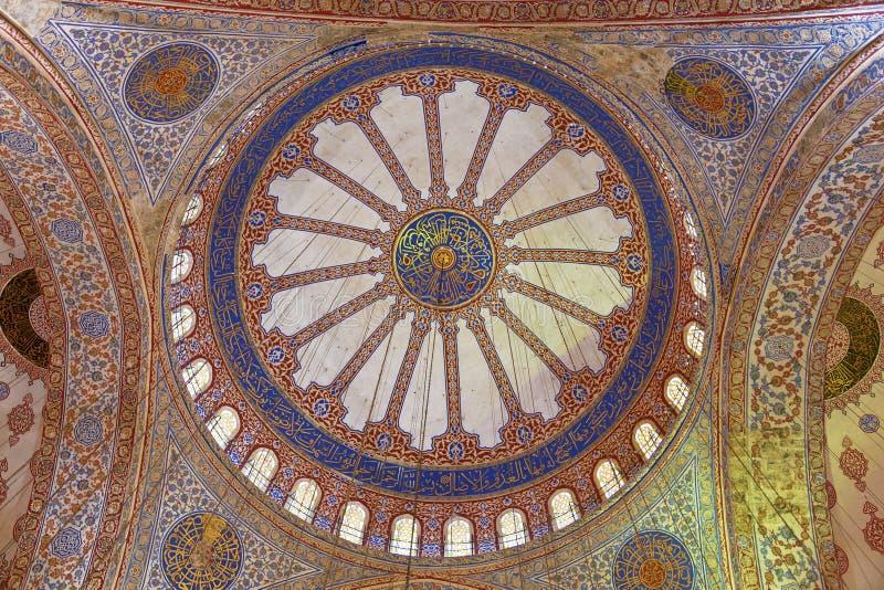 Vue interne de mosquée bleue, Sultanahmet photos libres de droits