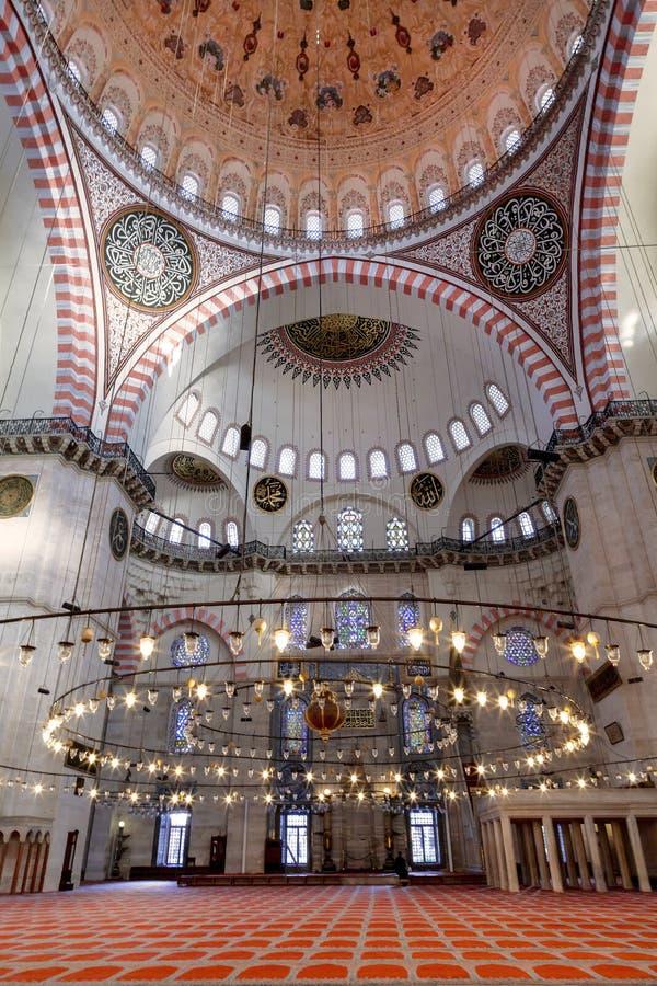 Vue interne de mosquée bleue, Sultanahmet photo stock