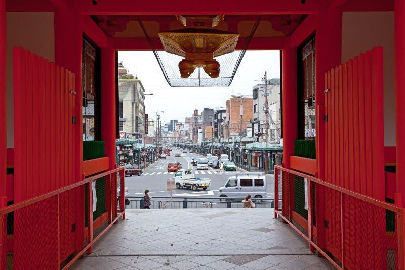 Vue Kyoto dans le tombeau de yasaka images libres de droits