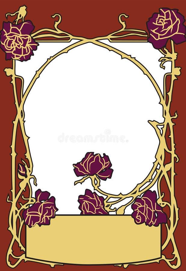 Vue la couleur rouge de vieux style de mode avec des roses Rétro fond dénommé de vecteur photo stock