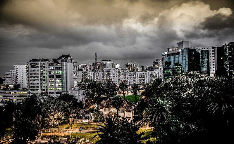 Vue large d'Auckland photo stock
