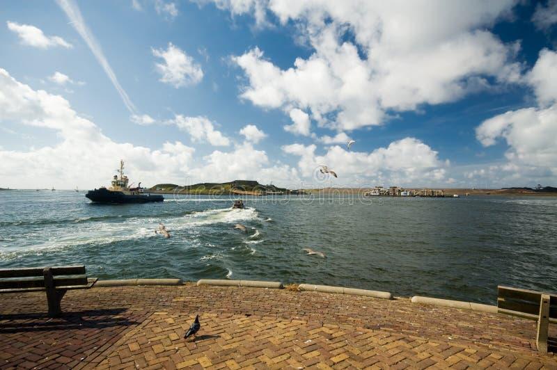 Vue large d'un port photo libre de droits
