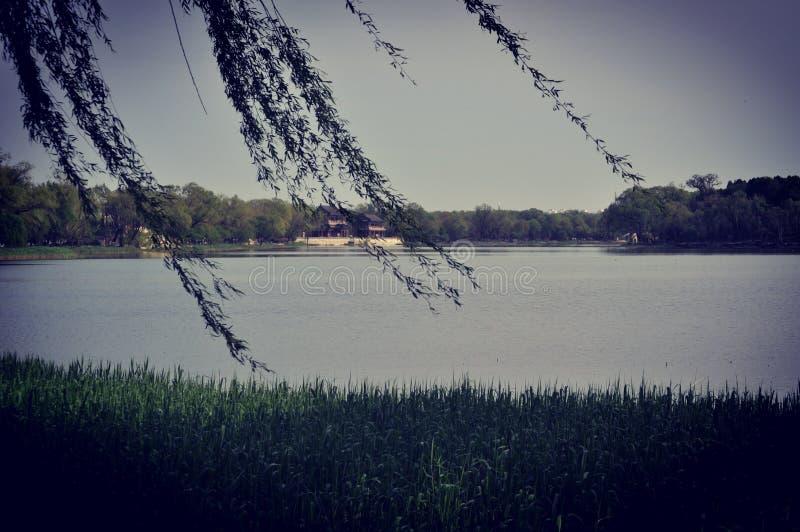 Vue large de lac de palais d'été de Bejing photos libres de droits