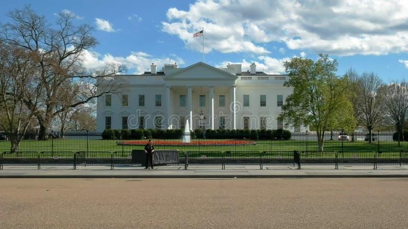 Vue large du côté nord de la maison blanche à Washington sans touristes photographie stock