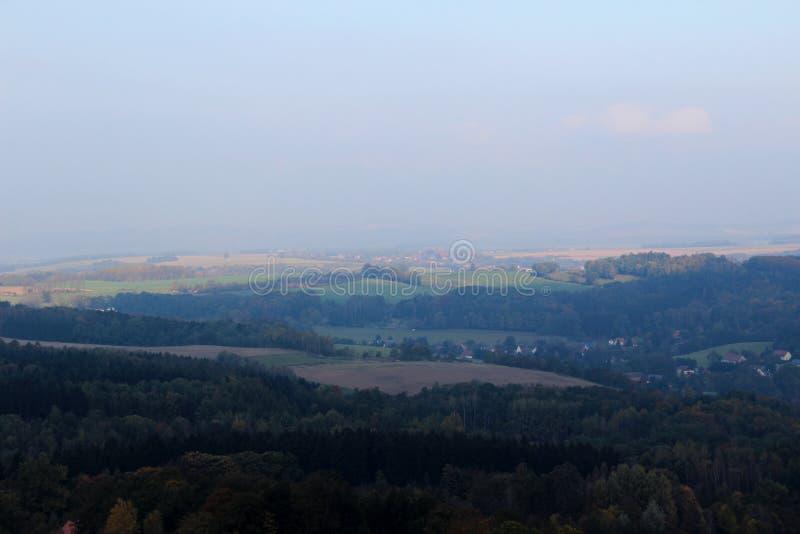 Vue large sur l'arround naturel Dresde Saxe Allemagne de paysage images stock