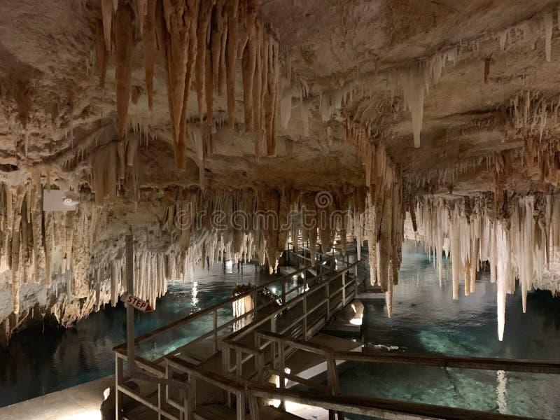 Vue magnifique de Crystal Caves des Bermudes photographie stock