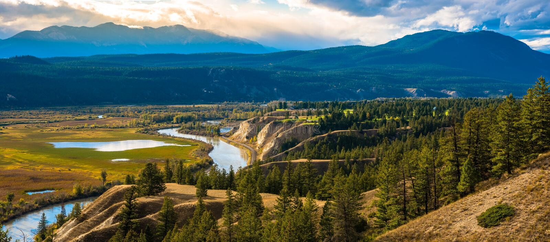 Vue magnifique de la montagne images libres de droits