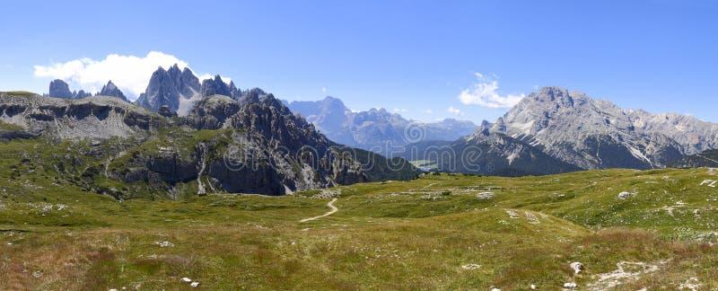 Vue merveilleuse des dolomites - Trentino Alto Adige sur le national image libre de droits