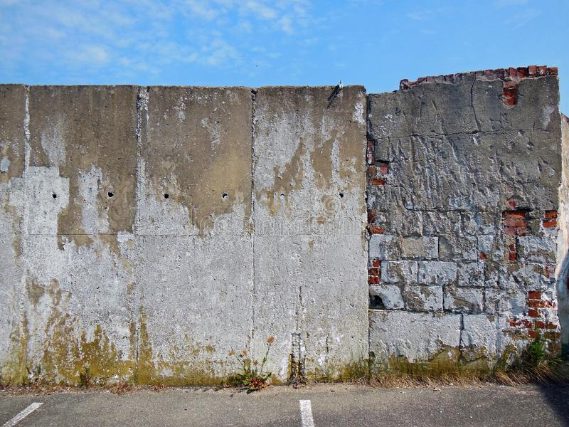 Vue minimale d'un mur en béton photo stock