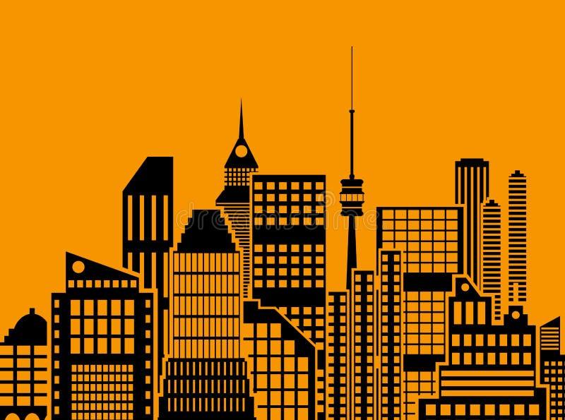 Vue moderne de ville Paysage urbain illustration libre de droits