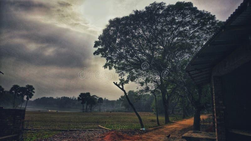 Vue naturelle dans un village images libres de droits