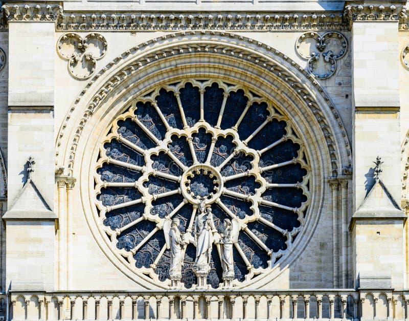 Vue Notre Dame de Paris de détail photos stock