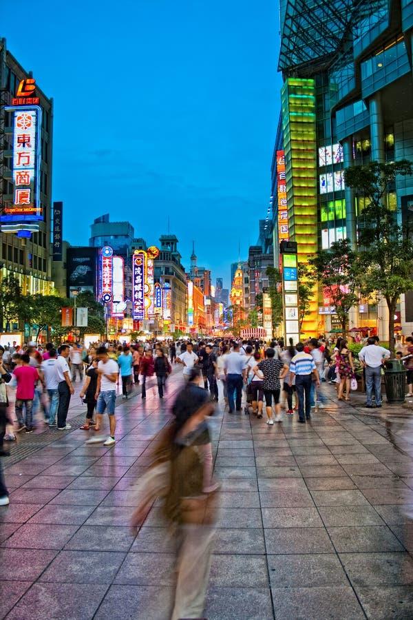 Vue occidentale de nuit de route de nanjing photos stock