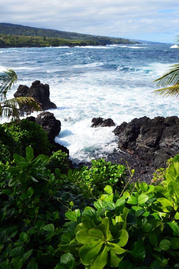 Vue orientale de côte de Maui image libre de droits