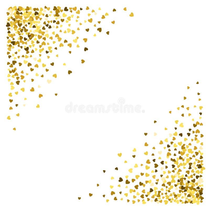 Vue ou frontière des coeurs aléatoires de dispersion illustration de vecteur
