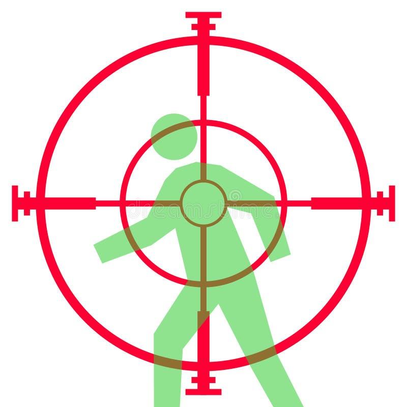 Vue ou portée de fusil de tireur isolé illustration libre de droits