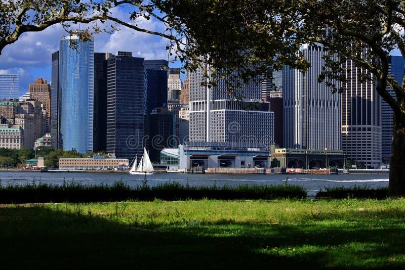 Vue paisible de NYC images libres de droits