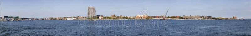 Vue panoramique à l'horizon de Boston image stock
