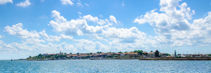 Vue panoramique à Nessebar images stock